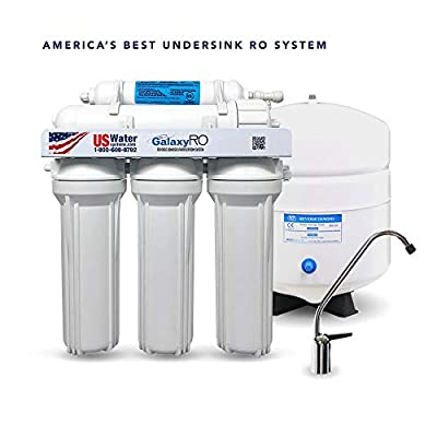 US Water Galaxy 5-Stage Reverse Osmosis System - GX-5050 - Includes All Fittings, Chrome Faucet, Easy Under-Sink Installation, NSF Certified - 4.5 Gal. Tank