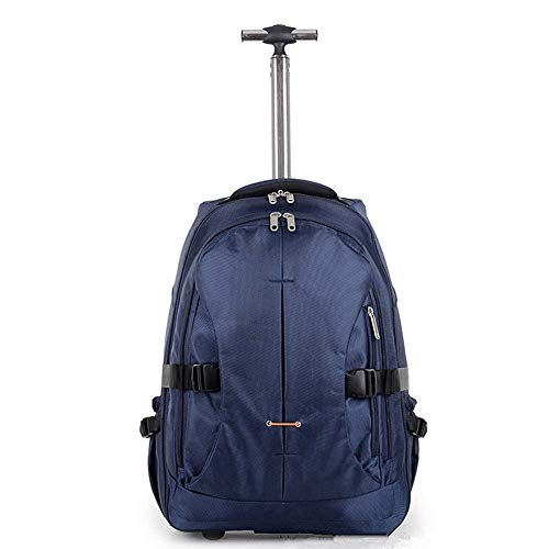 EAHKGmh Rolling Backpack Travel Wheeled Laptop Backpack Women Men Trolley Luggage Suitcase Business Bag College School…