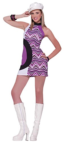60s Go Go Dress (Forum Novelties Women's 60's Revolution Zig Zag Mod Costume Dress, Multi, Standard)