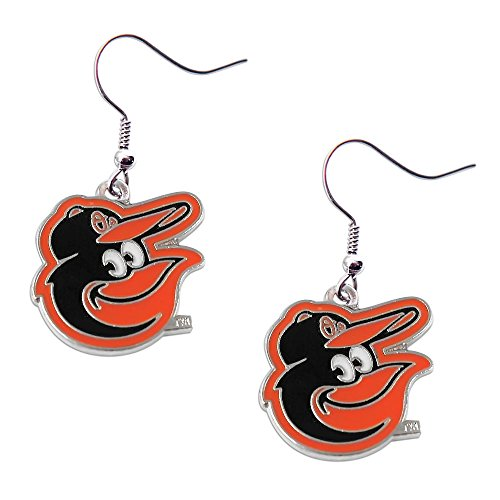 Mlb Baltimore Orioles Charm (MLB Baltimore Orioles Dangle Logo Earring Set Charm Gift)