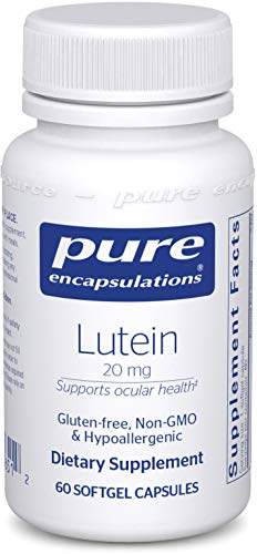 (Pure Encapsulations - Lutein 20 mg - Hypoallergenic Antioxidant Support for Healthy Visual Function* - 60 Softgel Capsules)
