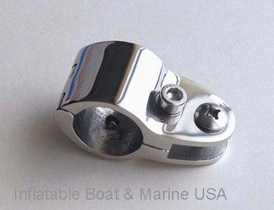 Inflatable Boat & Marine USA Bimini Top Jaw Slide - Hinged Heavy Duty- 7/8 Hardware Fitting Marine Stainless Steel by Inflatable Boat & Marine USA (Image #3)