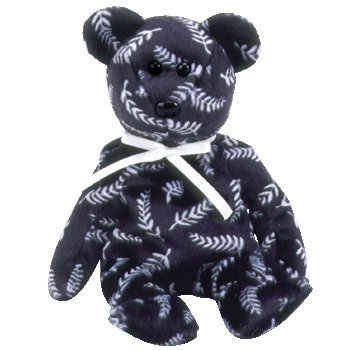 7e232849eff Image Unavailable. Image not available for. Color  TY Beanie Baby - SILVER  the Bear (Asia-Pacific Exclusive) ...