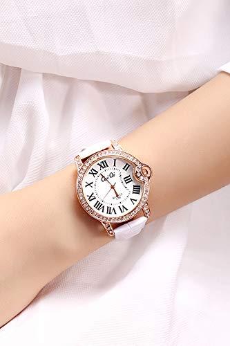 JEGOAU Unique Fashion Big dial Watch Women Girls Students Watch Ladies Fashion Roman Numeral dial Fashion Quartz Watch Girls - Numeral Watch Pocket White Roman