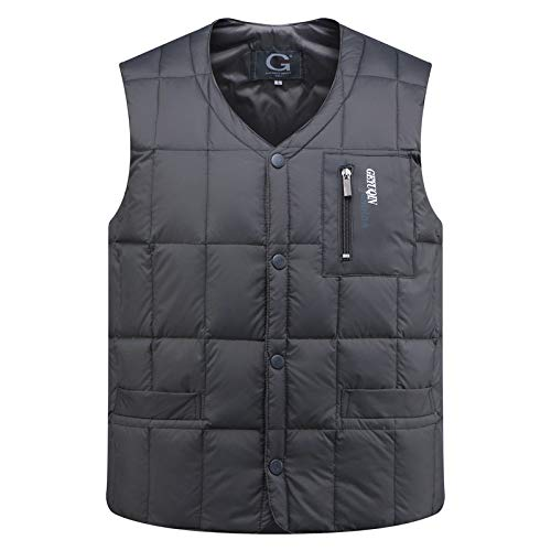 Grey YONG Vest winter Down New Jacket men's aqaYwRp