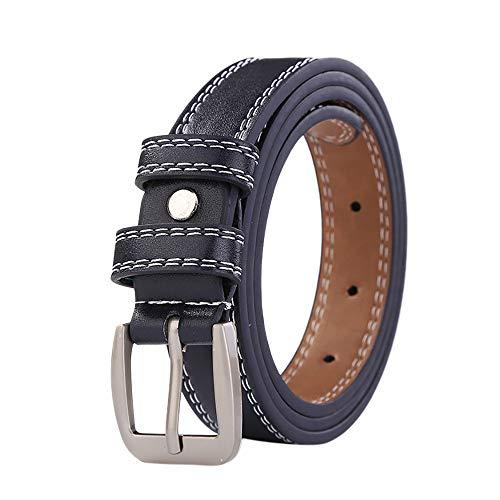 FEDULK Womens Fashion Lined Jeans Pants Pure Belt Hollow Lesisure Ladies Leather Belts(Blue, One - Lined Studded Belt