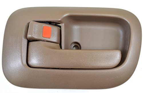 PT Auto Warehouse TO-2530B-LS - Inside Interior Inner Door Handle/Trim, Brown - Driver Side (Brown Interior Door Handle Driver)