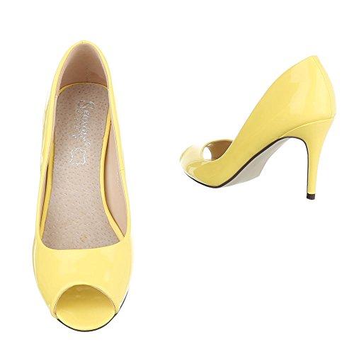 Zapatos amarillo Ital Mujer con Design tacón HzHwF51