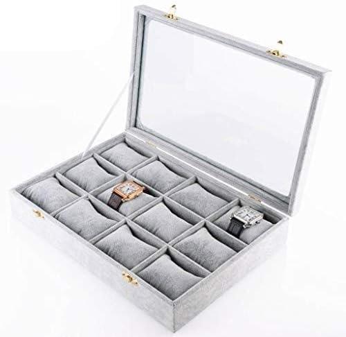 女性のジュエリーケースオーガナイザー木製時計ボックスメンズウォッチオーガナイザーケースキーロック付き、良い贈り物