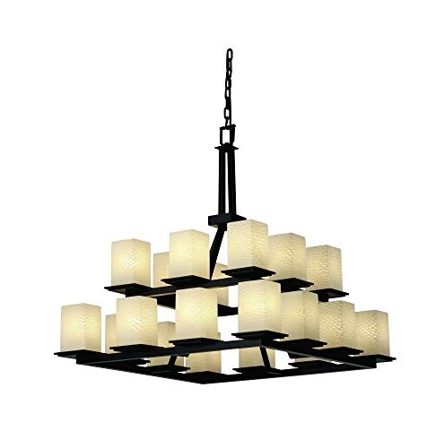 Justice Design Group-Montana 20-Light 2-Tier Ring (Fusion Transitional Chandelier)