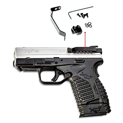 ClipDraw Ambidextrous Belt Clip for Springfield XDS Concealed Carry Black