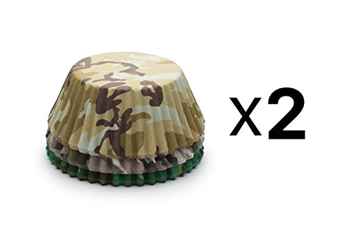 Fox Run Camouflage Baking Cups - Set of 75 Standard Size Cupcake Liners (2-Pack)