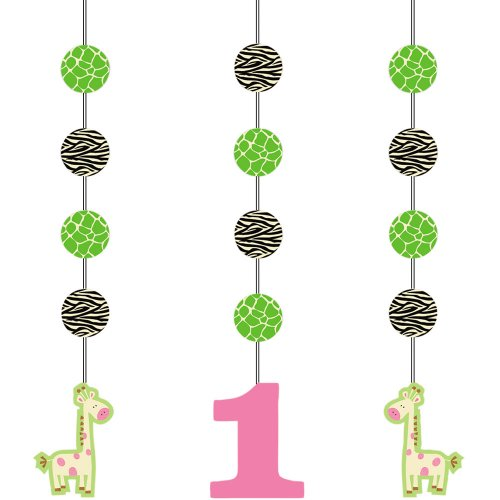 Creative Converting Wild at One Giraffe Hanging Cutout Party Decorations, - Giraffe Chair Animal Wild