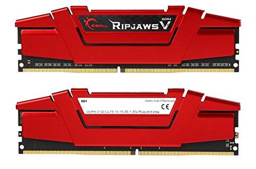 G.Skill 8GB (2 x 4GB) Ripjaws V Series DDR4 PC4-17000 2133MHz Intel Z170 Intel X99 Desktop Memory F4-2133C15D-8GVR
