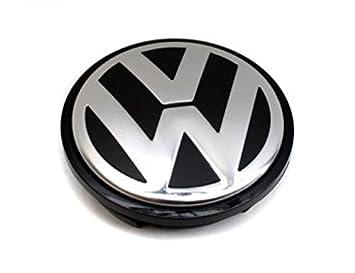 Original VW Alloy Wheel Centre Cap Satin Black High Chrome - 3B7601171 XRW: Amazon.es: Coche y moto