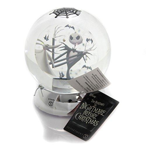 "Department 56 Disney Classic Brands Nightmare Before Christmas Jack with Zero Waterball Snowglobe, 4.63"""