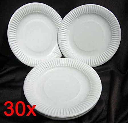 Pack of 30 cardboard Paper Plates Disposable Dinner Plates Party Birthday Cake Small LHS & Pack of 30 cardboard Paper Plates Disposable Dinner Plates Party ...