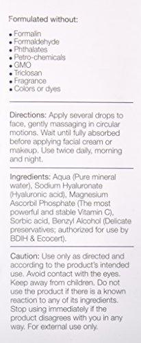 180 Cosmetics DAS ALLERBESTE Hyaluron Serum plus Vitamin C - Keine Spritzen nötig - Hochkonzentriertes Gesichtsserum mit Hyaluronsäure, Vitamin C & E - Füllt feine Linien und Falten - Feuchtigkeitsspendendes Serum - Hyaloronsäure Konzentrat Gel - Gegen Falten und Altersflecken, 30 ml