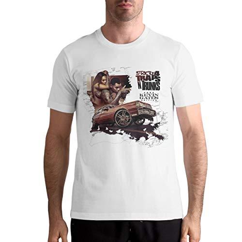 Maria M Arnold Kevin Gates Traps Men's Popular Short Sleeve Music Band Shirts White - Gate Arnold