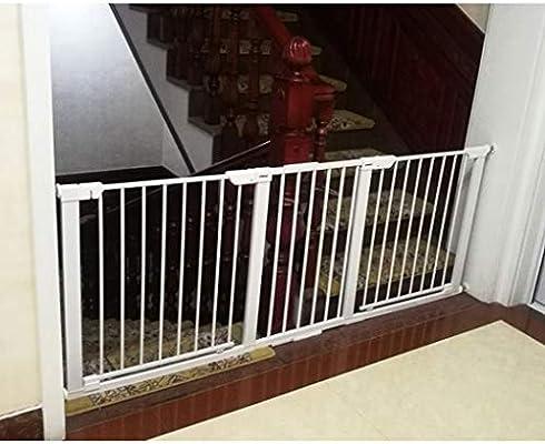 YONGYONG-Guardrail Puerta De Bebé Puerta De Bebé Extendida Cerca De Mascotas Barra De Puerta Automática Escaleras Alargadas Pasillo Valla Valla Alargado Largo (Color : White, Size : 143-250cm): Amazon.es: Hogar