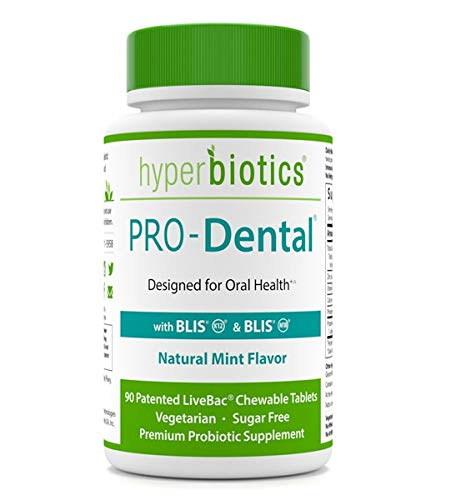 PRO-Dental: Probiotics for Oral & Dental Health-Freshens Breath at Its Source-Top Oral Probiotic Strains Including S. salivarius BLIS K12 & BLIS M18-Sugar Free (Chewable)-90 Day Supply ()