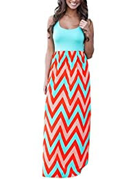 Clearance, 2018 Hot Womens Striped Long Boho Dress Lady Fashion Beach Summer Sundrss Maxi Dress