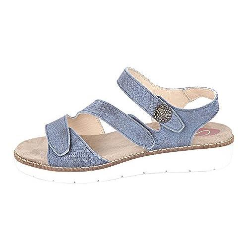 Sandalia Para Cómoda Plantillas Extraibles Color Delicado Mujer Azul Y6gyIf7bv