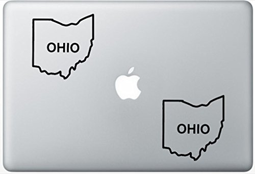 Ohio State Outline ArcDecals78603169 Set Of Two (2x) , Decal , Sticker , Laptop , Ipad , Car , Truck