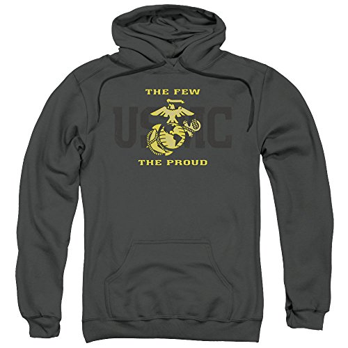 US Marine Corps Split Tag Unisex Adult Pull-Over Hoodie For Men and (Marines Adult Sweatshirt)