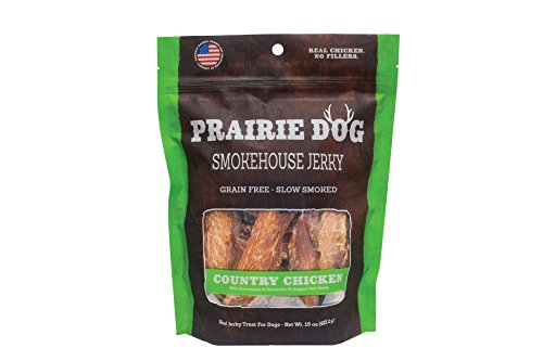 (Prairie Dog Pet Products Smokehouse Jerky, 15 Oz., Country Chicken)