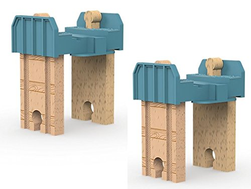 Thomas and Friends Wooden Railway - TWO Build-it-Higher Track Risers - Brand New Loose
