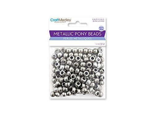 Craft Medley BD240C Metallic Pony Beads (Bead Medley)