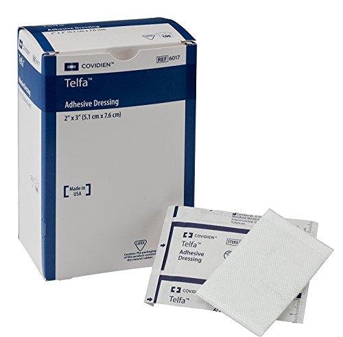 - COVIDIEN. 6017 Telfa Adhesive Dressing, Sterile 1's in Peel-Back Package, 2