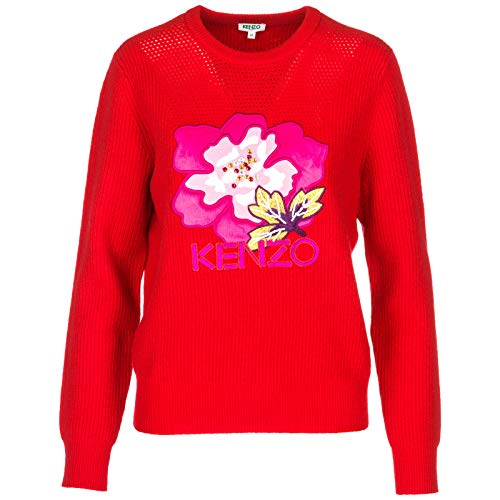 Flower Maglione Donna Indonesian Kenzo Rosso B5Sq8xPXEw