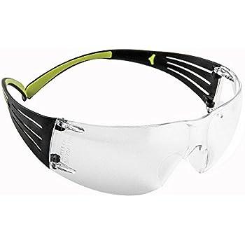3M 10078371662117 Secure Fit 400 Series Protective Eyewear, Standard, Black/Green