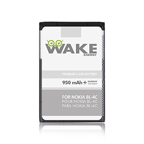 Bateria Celular WAKE para Nokia BL 4C Cell Phone Li Ion 950 mAh para Nokia BL 4C. WAKE Brand