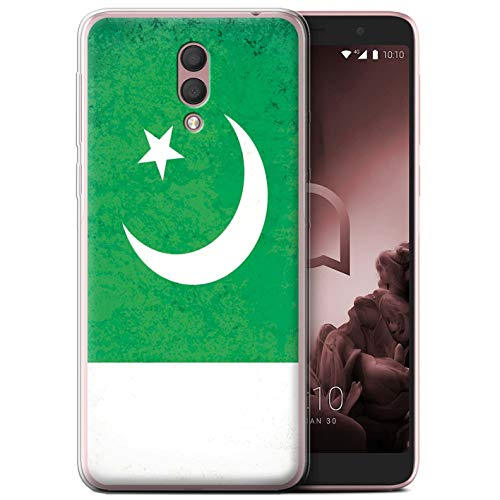 eSwish Gel TPU Phone Case/Cover for Alcatel 1X 2019 / Pakistan/Pakistani Design/Asian Flag Collection (Best Pakistani Designers 2019)