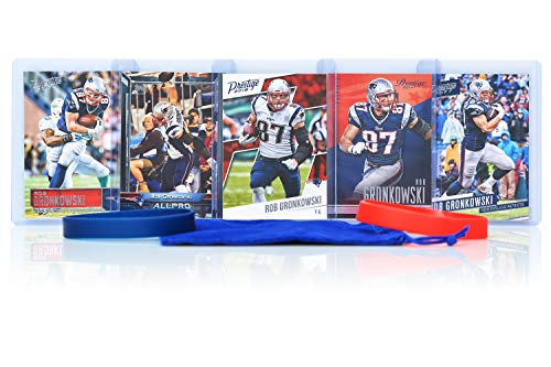 Rob Gronkowski (5) Assorted Football Cards Bundle - New England Patriots Trading - Football 2011 Cards