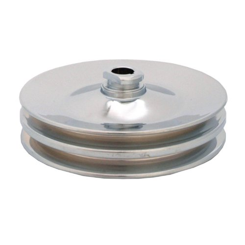 Spectre Performance 4487 Chrome Double Belt Power Steering Pulley for GM