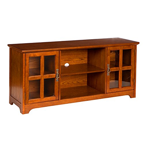 Wood Tv Contemporary Finish Stand (Southern Enterprises Remington Media Stand - Mission Oak)