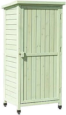Armario Exterior Para Muebles de Jardín Los estantes de almacenamiento de almacenamiento al aire libre de la caja de herramientas del armario de protección solar a prueba de agua Gabinete Balcón Jardí: