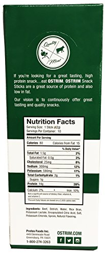 Ostrim Beef & Ostrich Snack Stick Natural Flavor Pack of 20