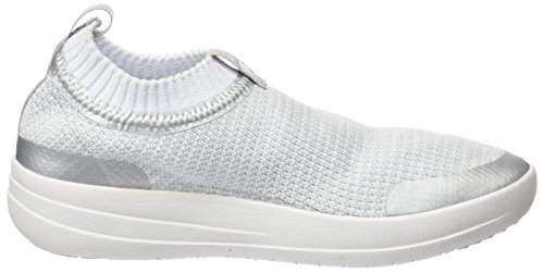 Uberknit Metallic Urban White Multicolour on Sneakers Metallic Sneaker Damen FitFlop Hohe Slip Silver z7ZP5Aq