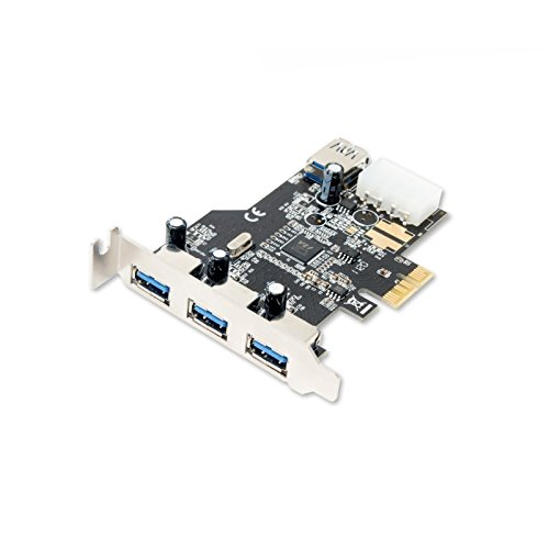 Syba SD-PEX20080 SD-PEX20080 USB 3.0 3x External & 1x Internal USB 3.0 Port PCI-Express Controller Card w HDD Power Connector & Low Profile Bracket by Syba (Image #4)