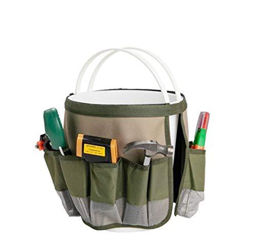 HYINDOOR Garden Bucket Caddy Tool Bags Gardening Tool Organizers Hardware Tools Kit Bag 10 ()
