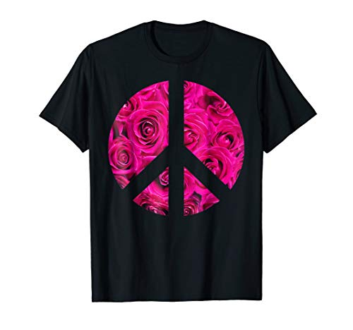 Retro Inverse Peace Sign Flower Hippie Symbol Shirt 1960s -