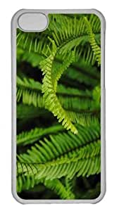 Customized iphone 5C PC Transparent Case - Fern 5 Personalized Cover