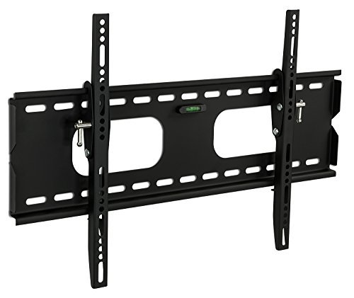 (Mount-It Low-Profile Tilting TV Wall Mount Bracket for 32-60 inch LCD, LED, OLED, 4K or Plasma Flat Screen TVs - 175 lbs Capacity, 1.5 Inch Profile, Max VESA 600x400 (MI-318B), Black, 60)