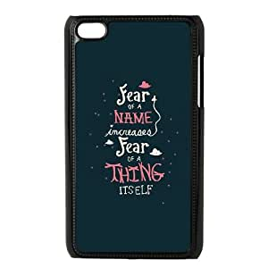 iPod Touch 4 Case Black quotes fear increases BNY_6927669