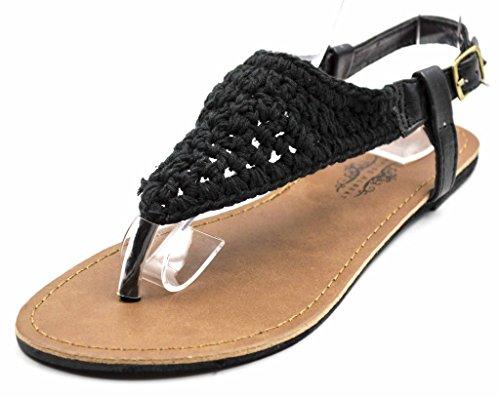 Charles Albert Womens Bali Crochet Macrame Hooded Sandals